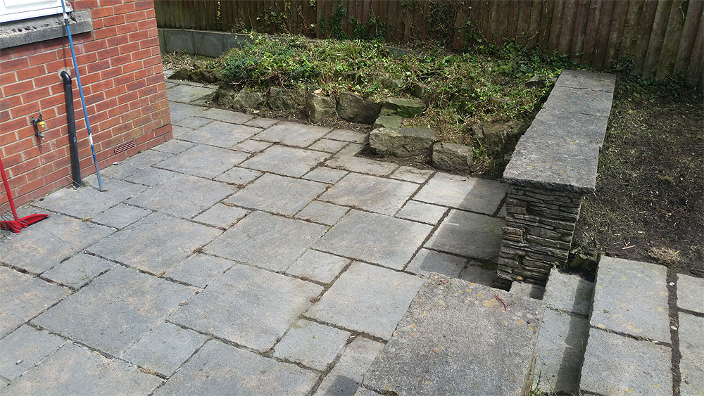 Weed free concrete patio in Bolton