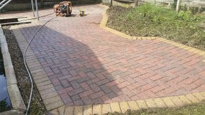 block paving after jet washing