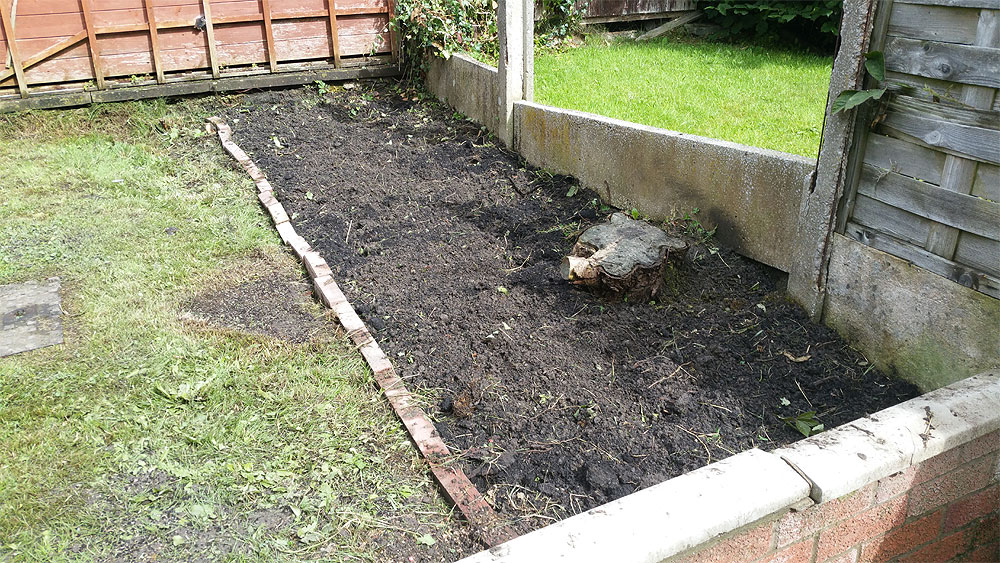 Creating a new bed for planting in Bolton