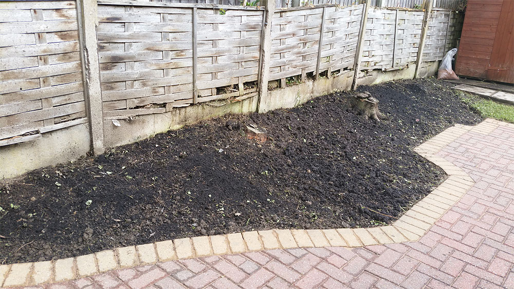 Block paving free of weeds and back garden weeded in Bolton
