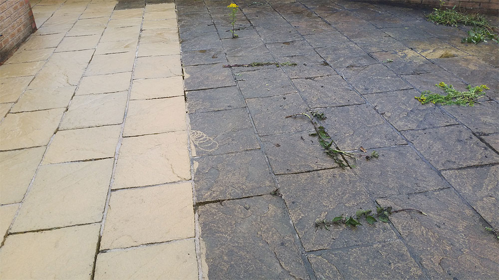 jet washing patio in bolton